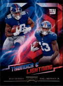2018 Playoff NFL Thunder and Lightning #4 Evan Engram/Odell Beckham Jr. New York Giants  Official Panini Football Trading Card