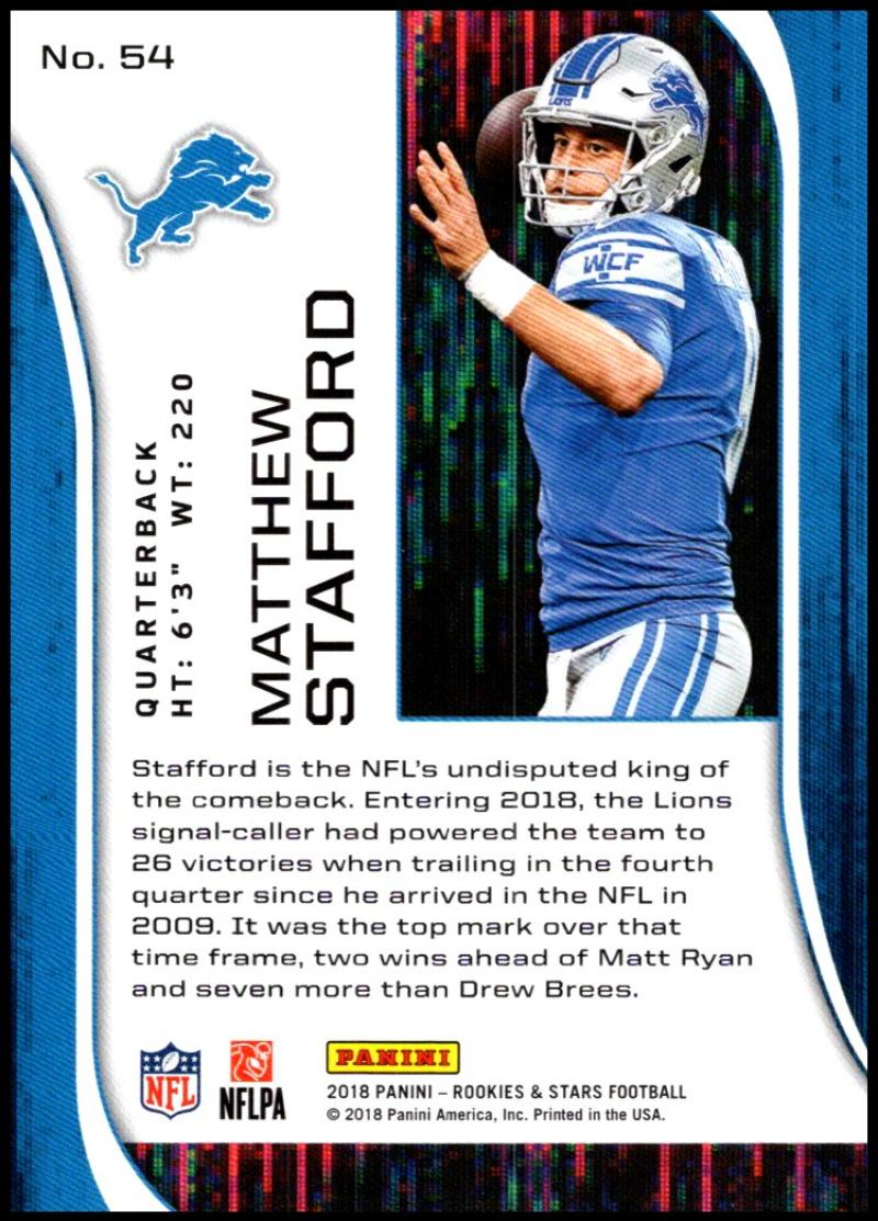 Pick-Your-Cards-Lot-2018-Rookies-and-Stars-NFL-Football-Panini-Singles-w-RC thumbnail 65