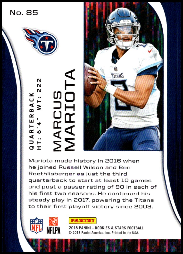 Pick-Your-Cards-Lot-2018-Rookies-and-Stars-NFL-Football-Panini-Singles-w-RC thumbnail 107