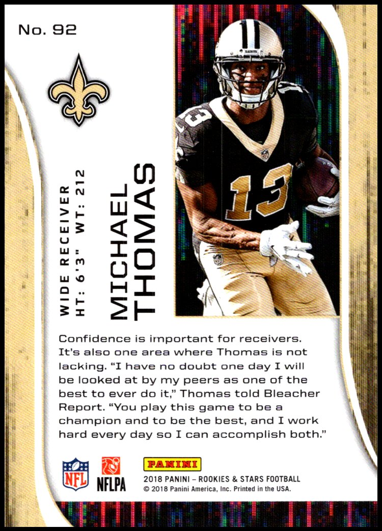 Pick-Your-Cards-Lot-2018-Rookies-and-Stars-NFL-Football-Panini-Singles-w-RC thumbnail 113