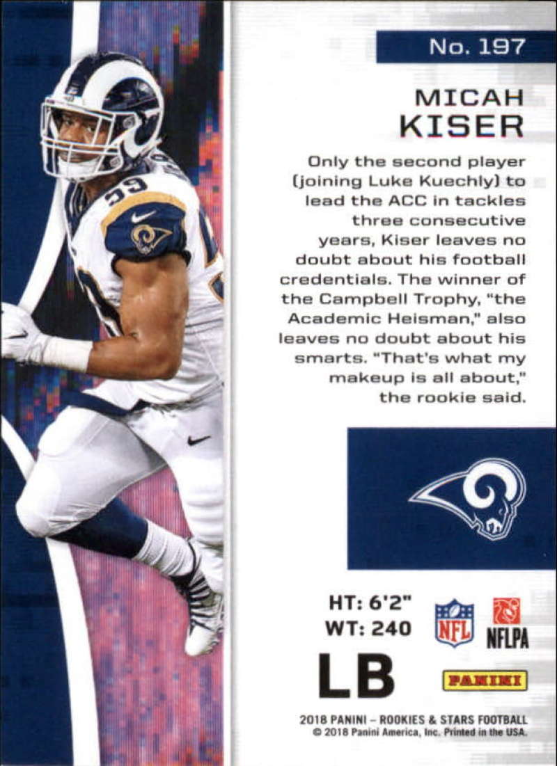 Pick-Your-Cards-Lot-2018-Rookies-and-Stars-NFL-Football-Panini-Singles-w-RC thumbnail 233