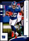 2018 Rookies and Stars Football #102 Saquon Barkley RC Rookie Card New York Giants Rookie  Official NFL Trading Card Produced by Panini