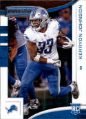 2018 Rookies and Stars Football #117 Kerryon Johnson Detroit Lions RC Rookie  Official NFL Trading Card made by Panini