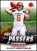 2018 Rookies and Stars Precision Passers Football #16 Baker Mayfield Cleveland Browns  Official NFL Trading Card Produced by Panini