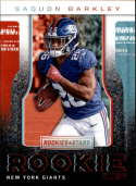 2018 Rookies and Stars Rookie Rush Football #2 Saquon Barkley New York Giants  Official NFL Trading Card Produced by Panini