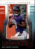 2018 Rookies and Stars Rookie Rush #10 Lamar Jackson Baltimore Ravens  NFL Football Trading Card (made by Panini)