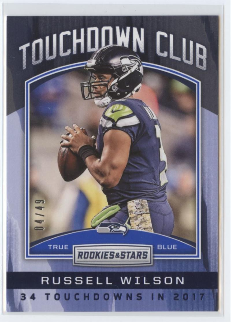 2018 Panini Rookies and Stars Touchdown Club True Blue