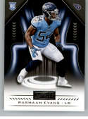2018 Playbook Football #186 Rashaan Evans RC Rookie Card Tennessee Titans Rookie  Official NFL Card Produced by Panini