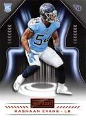 2018 Playbook Football Orange Parallel #186 Rashaan Evans Tennessee Titans RC  Official NFL Rookie Card made by Panini