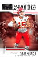 2018 Playbook Play Action Football #4 Patrick Mahomes II Kansas City Chiefs  Official NFL Retail Insert Card made by Panini
