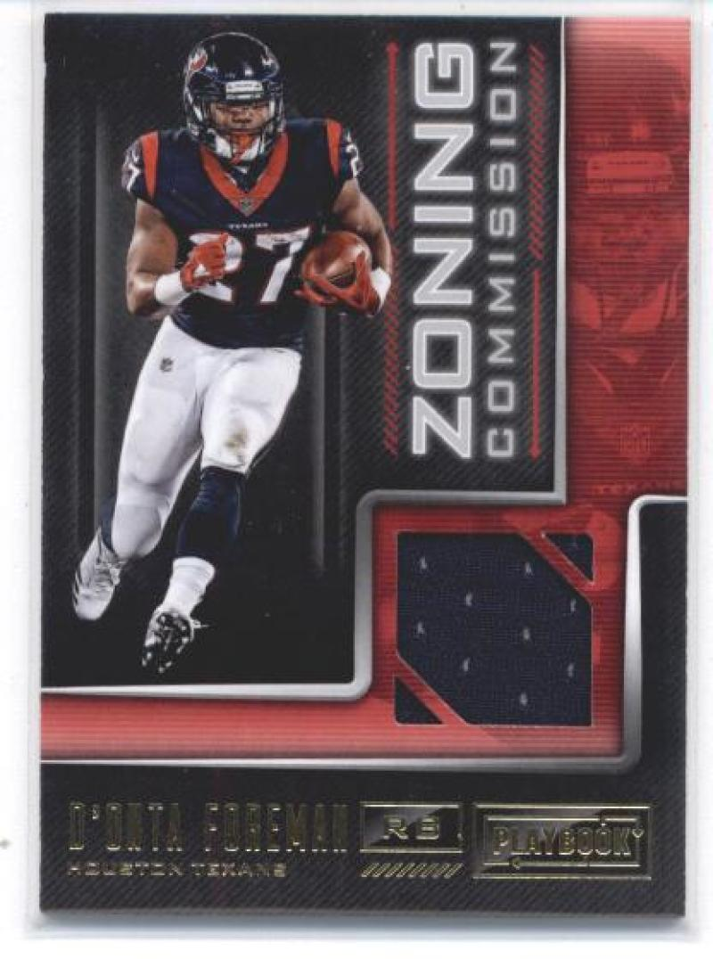 2018 Panini Playbook Zoning Commission Material Prime