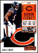 2018 Panini Contenders Season Tickets #24 Khalil Mack NM+