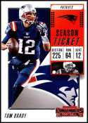 2018 Panini Contenders Season Tickets #36 Tom Brady NM+