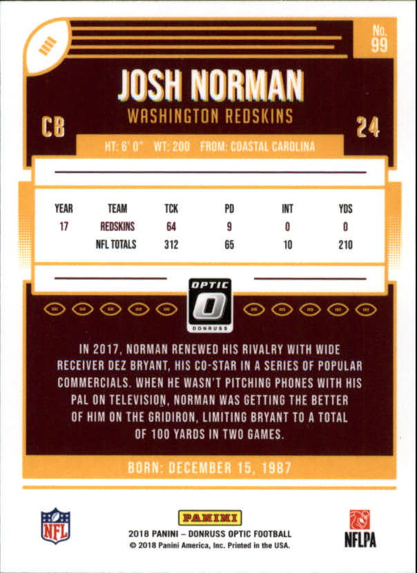 2018-Optic-NFL-Football-Card-Singles-Rated-Rookie-You-Pick miniature 13