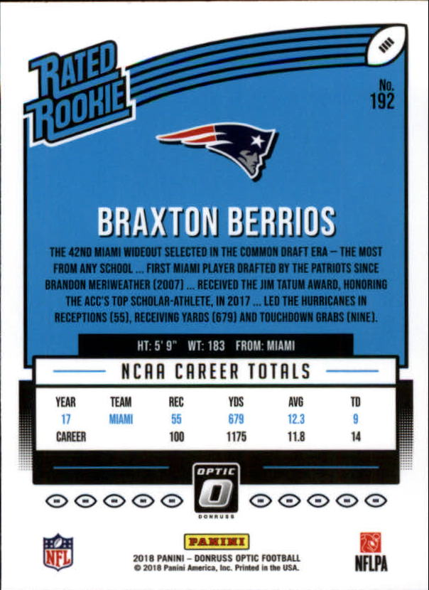 2018-Optic-NFL-Football-Card-Singles-Rated-Rookie-You-Pick miniature 22