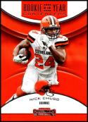 2018 Contenders Rookie of the Year Contenders Football #RYA-NC Nick Chubb Cleveland Browns  Official NFL RC Rookie Card made by Panini