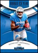 2018 Contenders Rookie of the Year Contenders Football #RYA-KJ Kerryon Johnson Detroit Lions  Official NFL RC Rookie Card made by Panini
