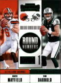 2018 Panini Contenders Round Numbers Emerald #RNA-MD Baker Mayfield/Sam Darnold NM Near Mint