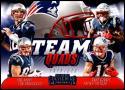 2018 Contenders Team Quads Football #TQ-1 Julian Edelman/Rob Gronkowski/Sony Michel/Tom Brady New England Patriots  Official NFL Trading Card made by