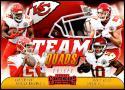 2018 Contenders Team Quads Football #TQ-3 Kareem Hunt/Patrick Mahomes II/Travis Kelce/Tyreek Hill Kansas City Chiefs  Official NFL Trading Card made b