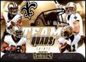 2018 Contenders Team Quads Football #TQ-5 Alvin Kamara/Drew Brees/Mark Ingram II/Michael Thomas New Orleans Saints  Official NFL Trading Card made by