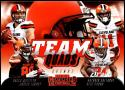 2018 Contenders Team Quads Football #TQ-6 Antonio Callaway/Baker Mayfield/Jarvis Landry/Nick Chubb Cleveland Browns  Official NFL Trading Card made by