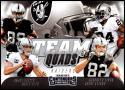 2018 Contenders Team Quads Football #TQ-7 Amari Cooper/Derek Carr/Jordy Nelson/Marshawn Lynch Oakland Raiders  Official NFL Trading Card made by Panin
