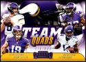 2018 Contenders Team Quads Football #TQ-10 Adam Thielen/Dalvin Cook/Kirk Cousins/Stefon Diggs Minnesota Vikings  Official NFL Trading Card made by Pan