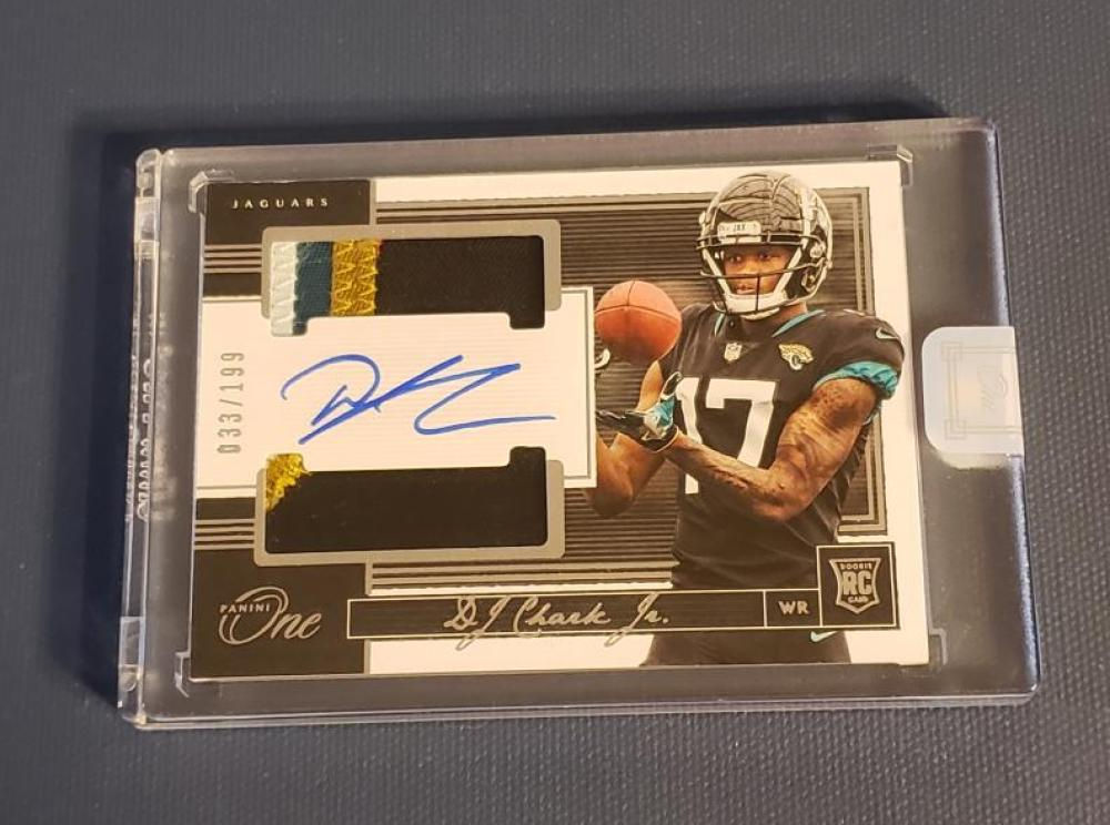 2018 Panini One Rookie Dual Patch Autographs