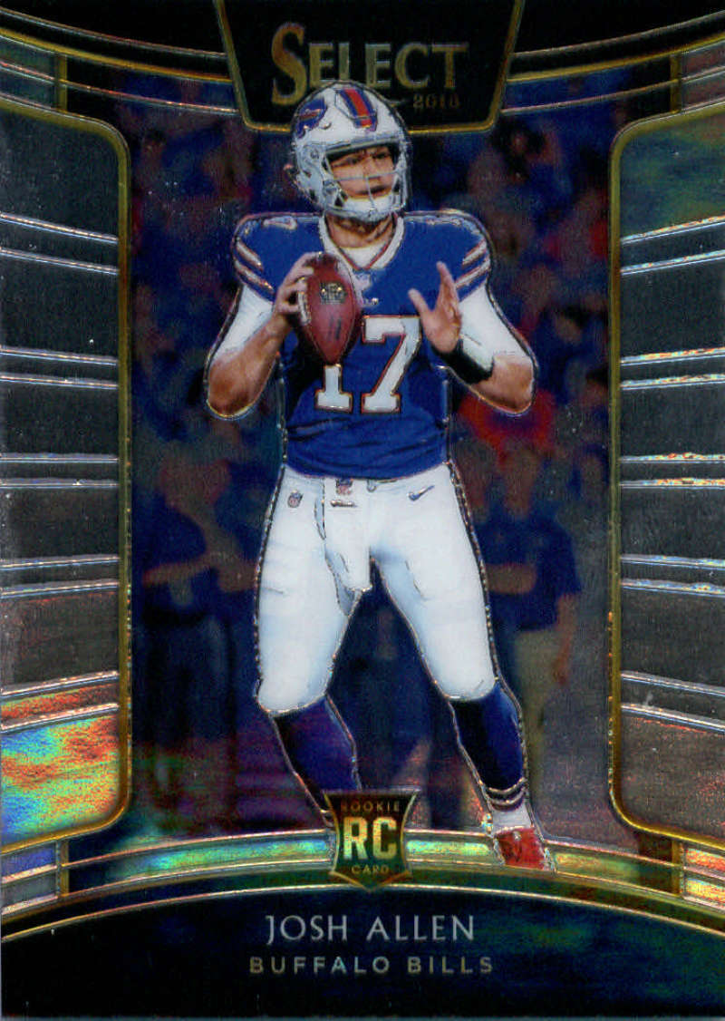 2018 Select Football #24 Josh Allen Buffalo Bills Concourse RC Rookie Card Official NFL Trading Card From Panini