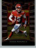 2018 Select Football #66 Patrick Mahomes II Kansas City Chiefs Concourse Official NFL Trading Card From Panini