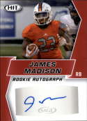 2019 SAGE Hit Premier Draft Autographs Red Football #A95 James Madison Auto Autograph Official NCAA/NFL Pre Rookie/Prosp