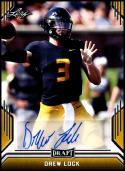 2019 Leaf Draft Autograph Gold #BA-DL1 Drew Lock NM-MT Missouri Tigers