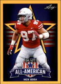2019 Leaf Draft Gold Football #79 Nick Bosa  Ohio State Buckeyes
