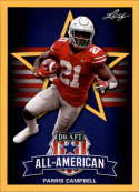 2019 Leaf Draft Gold Football #80 Parris Campbell  Ohio State Buckeyes