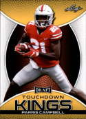 2019 Leaf Draft Gold Football #85 Parris Campbell  Ohio State Buckeyes