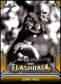 2019 Leaf Draft Flashback Gold Football #7 Jerry Rice  San Francisco 49ers