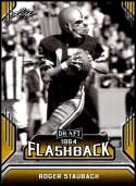 2019 Leaf Draft Flashback Gold Football #9 Roger Staubach  Dallas Cowboys