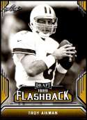 2019 Leaf Draft Flashback Gold Football #10 Troy Aikman  Dallas Cowboys