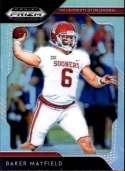 2019 Prizm Draft Picks Football Silver Prizm #12 Baker Mayfield Oklahoma Sooners  Official Panini NFL Collegiate Card