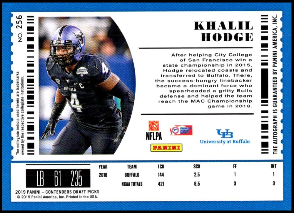 2019-Panini-Contenders-Draft-Picks-Football-AUTO-College-Ticket-U-Pick-Cards-Lot thumbnail 8