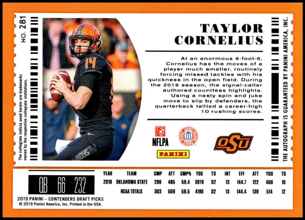 2019-Panini-Contenders-Draft-Picks-Football-AUTO-College-Ticket-U-Pick-Cards-Lot thumbnail 16