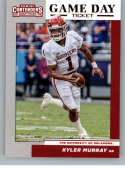 2019 Panini Contenders Draft Picks Game Day Ticket #1 Kyler Murray Oklahoma Sooners  Official Collegiate RC Rookie Football Card of the NFL Draft