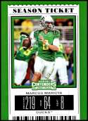 2019 Panini Contenders Draft Picks Season Ticket #65 Marcus Mariota Oregon Ducks  Official Collegiate Football Card of the NFL Draft