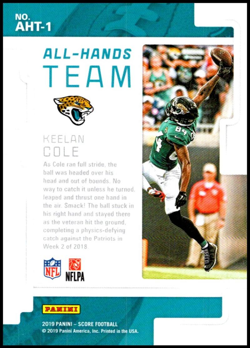 miniature 3 - 2019 Score All Hands Team NFL Football Card Singles You Pick Buy 4 Get 2 FREE