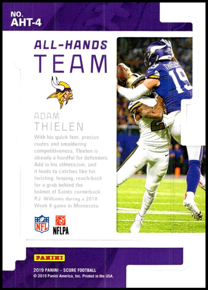 miniature 5 - 2019 Score All Hands Team NFL Football Card Singles You Pick Buy 4 Get 2 FREE