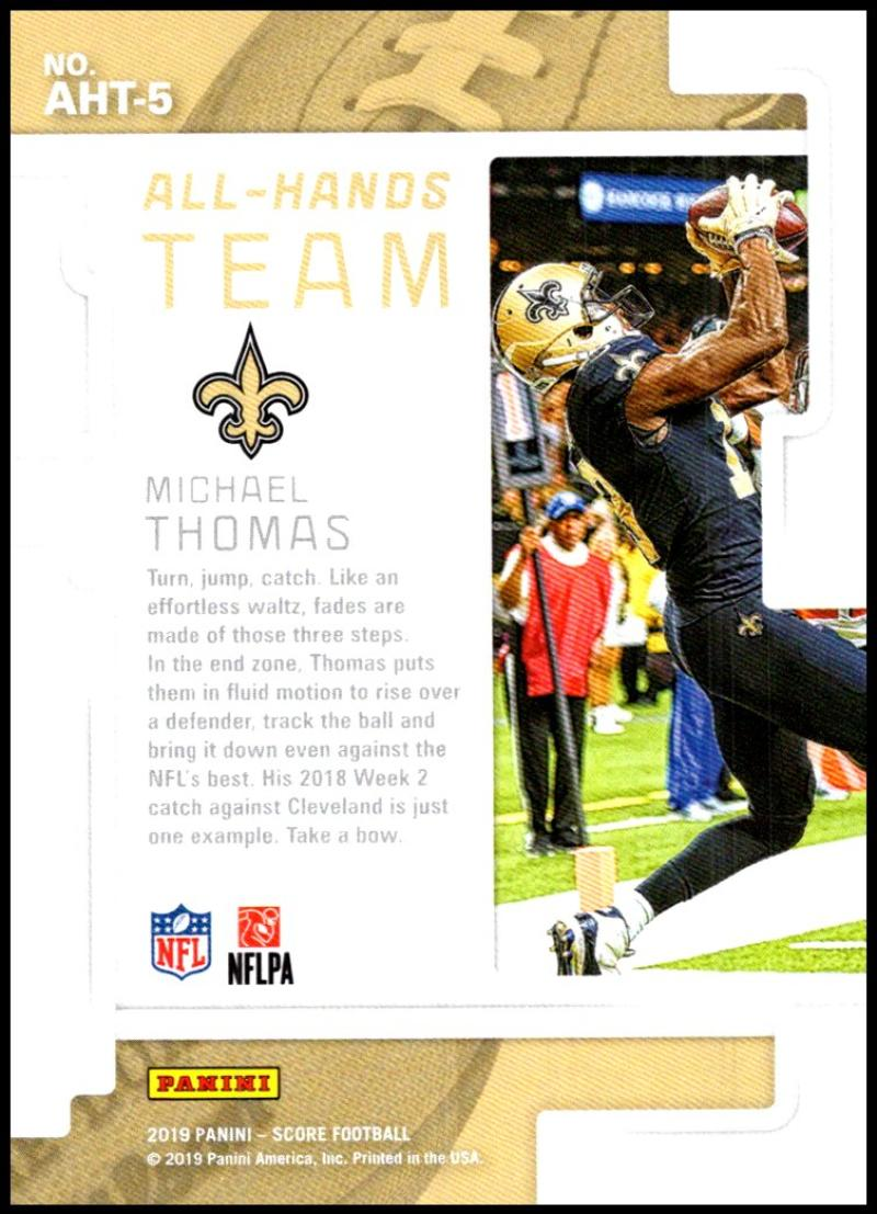 miniature 7 - 2019 Score All Hands Team NFL Football Card Singles You Pick Buy 4 Get 2 FREE