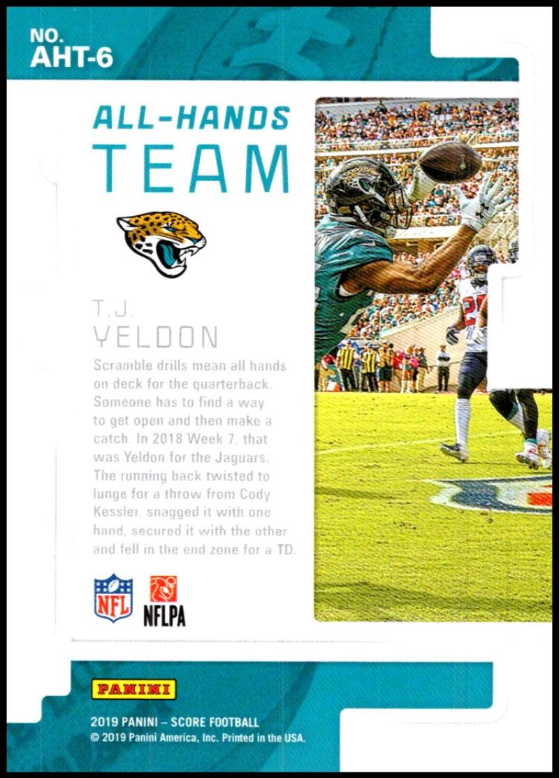 miniature 9 - 2019 Score All Hands Team NFL Football Card Singles You Pick Buy 4 Get 2 FREE