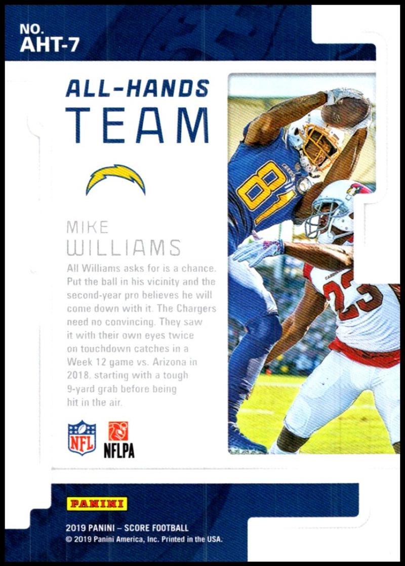 miniature 11 - 2019 Score All Hands Team NFL Football Card Singles You Pick Buy 4 Get 2 FREE