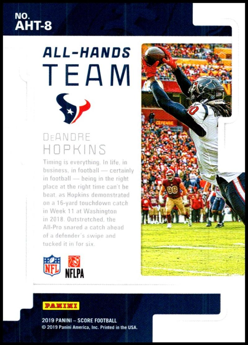 miniature 13 - 2019 Score All Hands Team NFL Football Card Singles You Pick Buy 4 Get 2 FREE